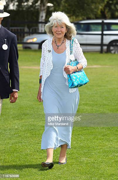 Jilly Cooper attends the Cartier International Polo Day 2011 at Guards Polo Club on July 24 2011 in Egham England