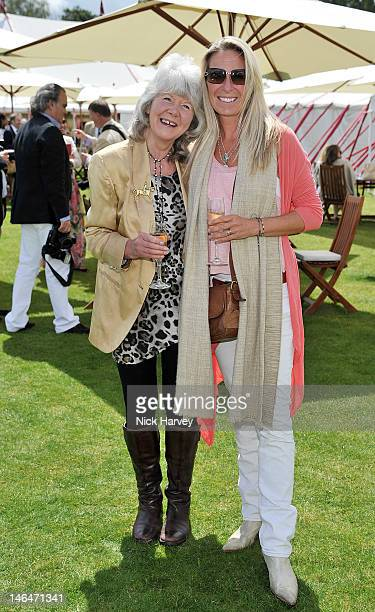 Jilly Cooper attends the Cartier Queen's Cup Polo Day 2012 at Guards Polo Club on June 17 2012 in Egham England