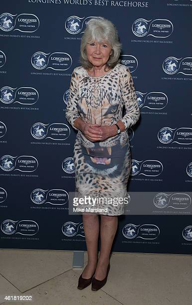 Jilly Cooper attends the Longines World's Best Racehorse at Claridges Hotel on January 20 2015 in London England