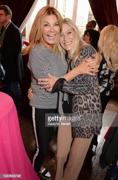 Jilly Johnson and Angie Best attend attends the JDW Midster Live AW18 Catwalk Show and party presented by JD Williams during London Fashion Week...