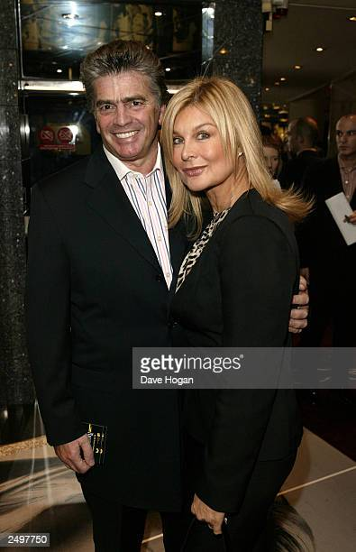 """Jilly Johnson and her boyfriend attend the UK charity premiere of """"The Italian Job"""" at the Empire Leicester Square September 15, 2003 in London,..."""