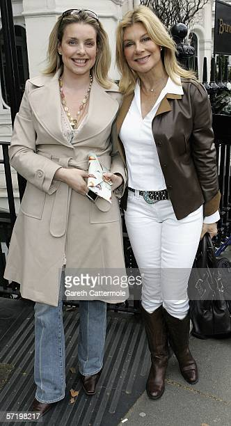 Jilly Johnson attends the Giles Deacon and Dima Rashid VIP designer lunch at the Brunello's at Baglioni Hotel on March 28 2006 in London England The...