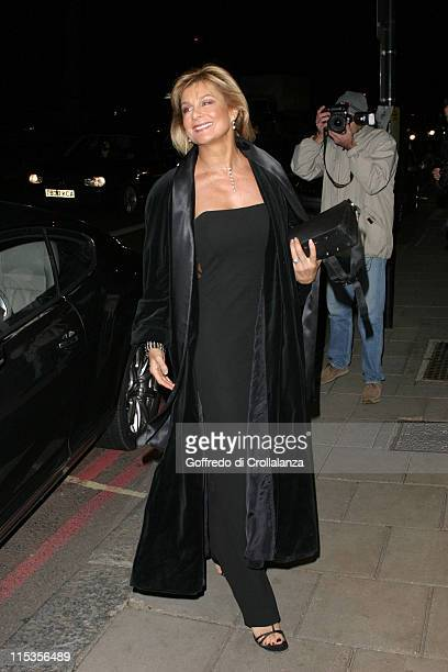 Jilly Johnson during The Rainbow Ball Arrivals at Dorchester Hotel Park Lane in London Great Britain