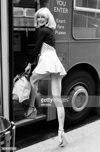 Jilly Johnson model wearing short skirt London 23rd April 1976
