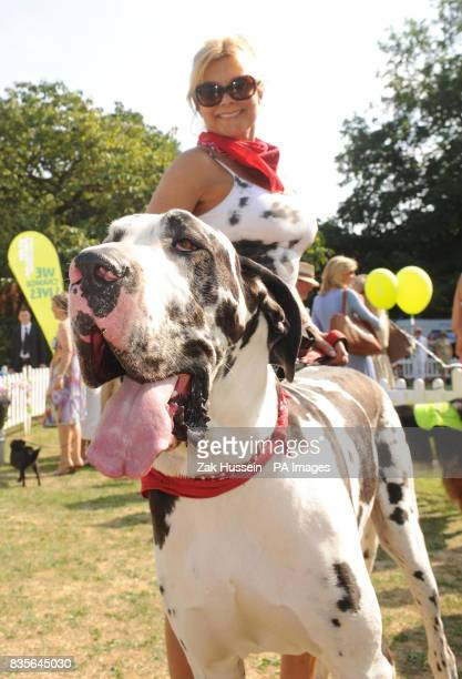 Jilly Johnson with her dog Boris during the Macmillan Dog Day 2009 at the Royal Chelsea Hospital in south west London