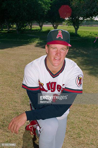 Jim Abbott, California Angels rookie pitcher.