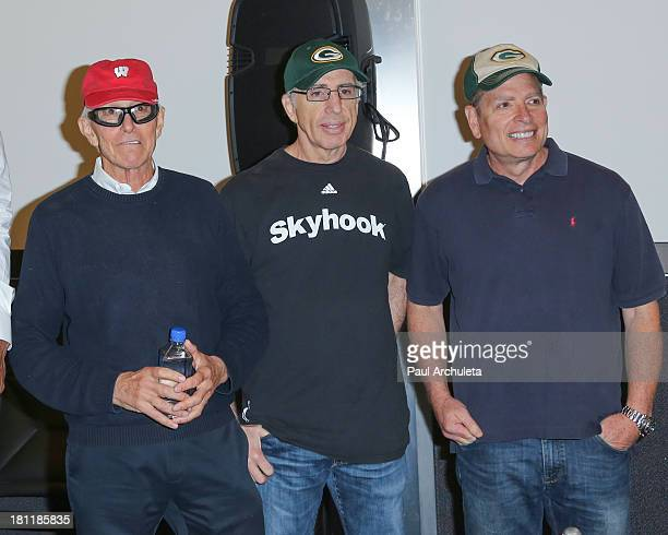 Jim Abrahams Jerry Zucker and David Zucker attend the 'Airplane' 30th anniversary reunion press announcement at Air Hollywood Studio on September 19...
