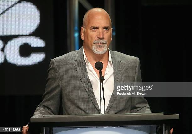 Jim Ackerman SVP Primetime Alternative CNBC speaks onstage at the 'The Profit' panel during the NBCUniversal CNBC portion of the 2014 Summer...