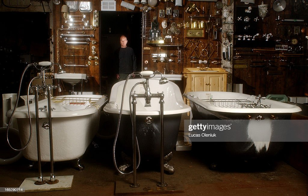 Jim Addison Stands Amidst The Impressive Array Of New And Vintage Bathtubs  And Bathroom Fixture In