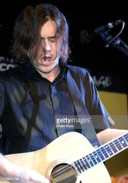 Jim Adkins of Jimmy Eat World during Jimmy Eat World InStore Performance and Album Signing at Virgin Megastore in London March 21 2005 at Virgin...