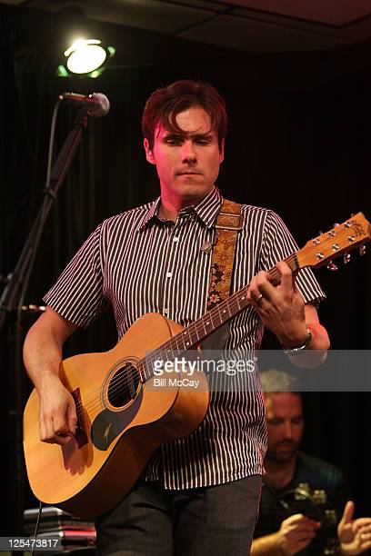 Jim Adkins of Jimmy Eat World performs during a 1045 Radio Studio Session on October 11 2010 in Bala Cynwyd Pennsylvania