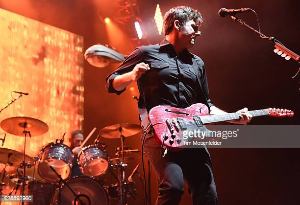 Jim Adkins of Jimmy Eat World performs during Live 105's Not So Silent Night at ORACLE Arena on December 9 2016 in Oakland California