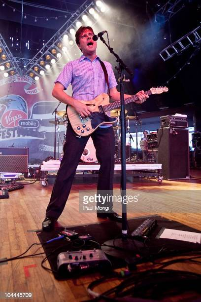 Jim Adkins of Jimmy Eat World performs during the Virgin Mobile FreeFest at Merriweather Post Pavillion on September 25 2010 in Columbia Maryland