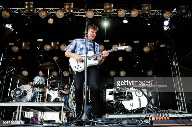 Jim Adkins of Jimmy Eat World performs on Day Two of the Forecastle Festival on July 14 2018 in Louisville Kentucky