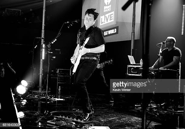 Jim Adkins of Jimmy Eat World performs on stage at iHeartRadio LIVE at the iHeartRadio Theater on January 13 2017 in Burbank California