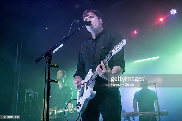 Jim Adkins of the band Jimmy Eat World performs at The Observatory on January 12 2017 in Santa Ana California