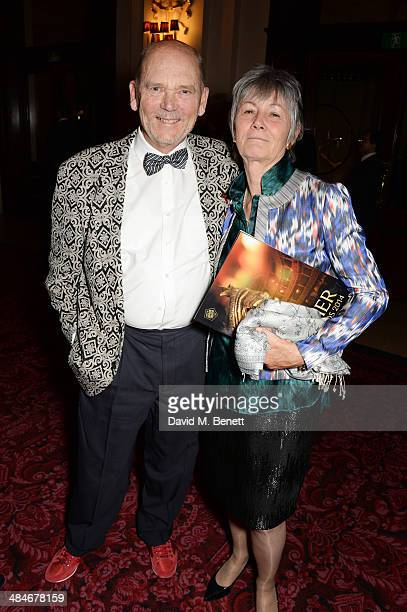 Jim Beach and guest attend an after party following the Laurence Olivier Awards at The Royal Opera House on April 13 2014 in London England