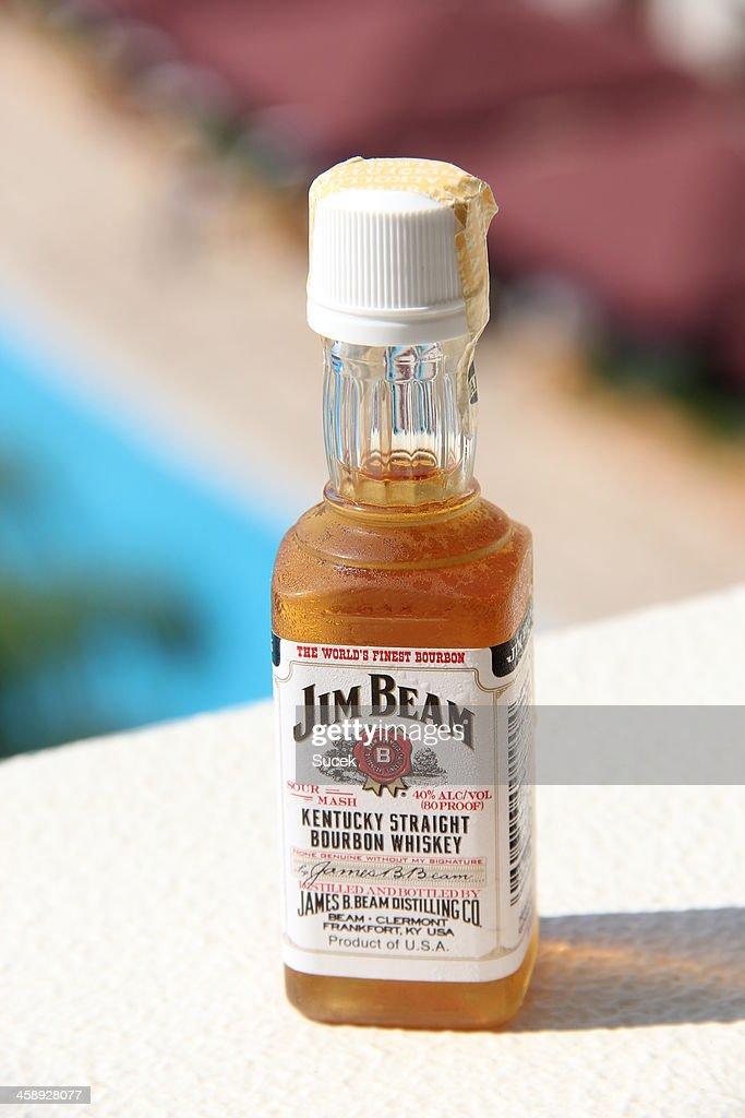 jim beam bourbon whiskey mini bottle stock photo getty images