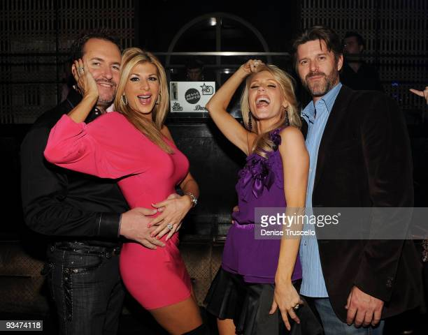 Jim Bellino, Alexis Bellino, Gretchen Rossi and Slade Smiley attend LAVO Nightclub at The Palazzo on November 29, 2009 in Las Vegas, Nevada.
