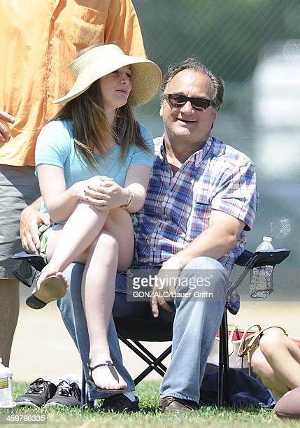Jim Belushi and daughter Jamison Belushi are seen on May 11 2013 in Los Angeles California