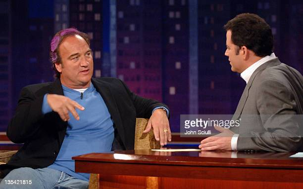 Jim Belushi and Host Jimmy Kimmel on the 'Jimmy Kimmel Live' show on ABC Photo by John Sciulli/WireImagecom/ABC