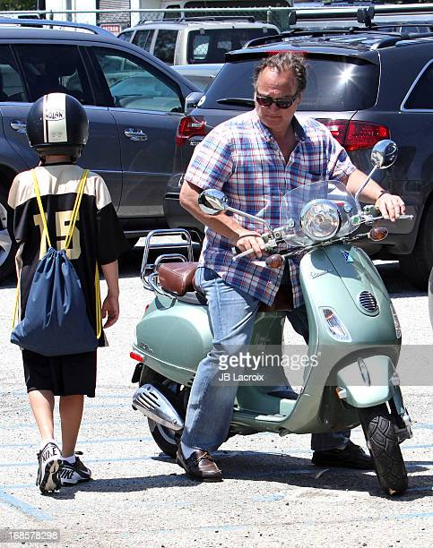 Jim Belushi and Jared Belushi are seen on May 11 2013 in Los Angeles California