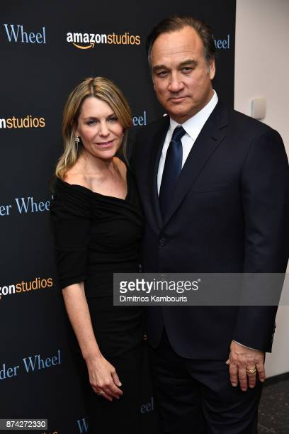 Jim Belushi and Jennifer Sloan attend the Wonder Wheel screening at Museum of Modern Art on November 14 2017 in New York City