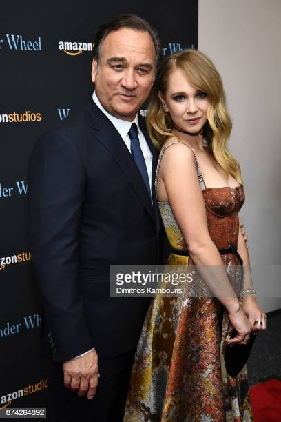 Jim Belushi and Juno Temple attend the 'Wonder Wheel' screening at Museum of Modern Art on November 14 2017 in New York City