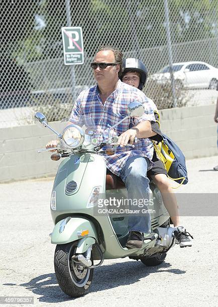 Jim Belushi and son Jared Belushi are seen on May 11 2013 in Los Angeles California