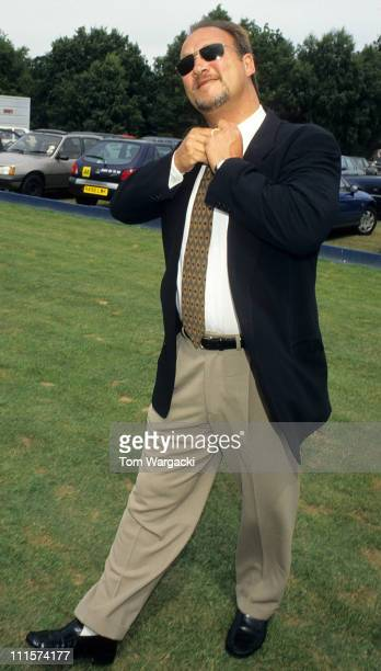 Jim Belushi during Jim Belushi Sighting at Cartier Polo July 26 1998 at Cartier Polo in Windsor Great Britain