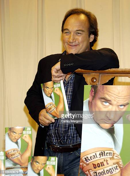 Jim Belushi during Jim Belushi Signs Copies of His New Book Real Men Don't Apologize May 15 2006 at Barnes and Noble in New York City New York United...