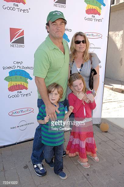 Jim Belushi wife Jennifer and children Robert and Jamison pose for a picture at the Camp Ronald McDonald for kids 14th Annual Family Halloween...