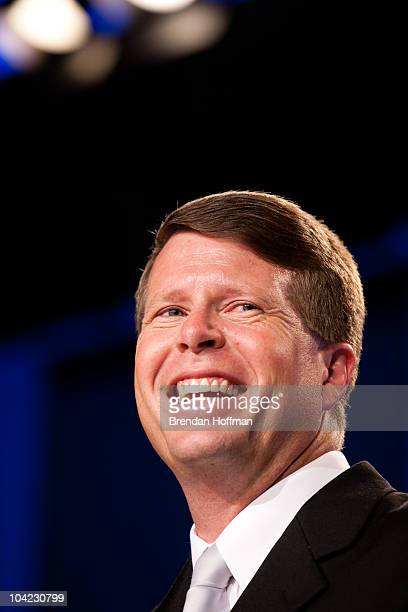 Jim Bob Duggar of The Learning Channel TV show '19 Kids and Counting' speaks at the Values Voter Summit on September 17 2010 in Washington DC The...