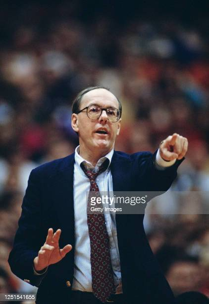 Jim Boeheim Head Coach for the University of Syracuse Orange men's basketball team during the 1989/90 NCAA Atlantic Coast Conference college...