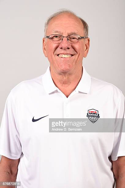 Jim Boeheim of the USA Basketball Men's National Team poses for a headshot at the Wynn Las Vegas on July 17 2016 in Las Vegas Nevada NOTE TO USER...