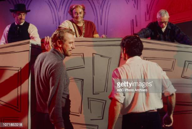 Jim Boles Laurie Main cew Edward Mulhare director Lee Philips appearing on the Walt Disney Television via Getty Images's 'The Ghost Mrs Muir' episode...