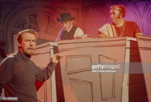 Jim Boles Laurie Main Edward Mulhare appearing on the Walt Disney Television via Getty Images's 'The Ghost Mrs Muir' episode 'Not So Faust'