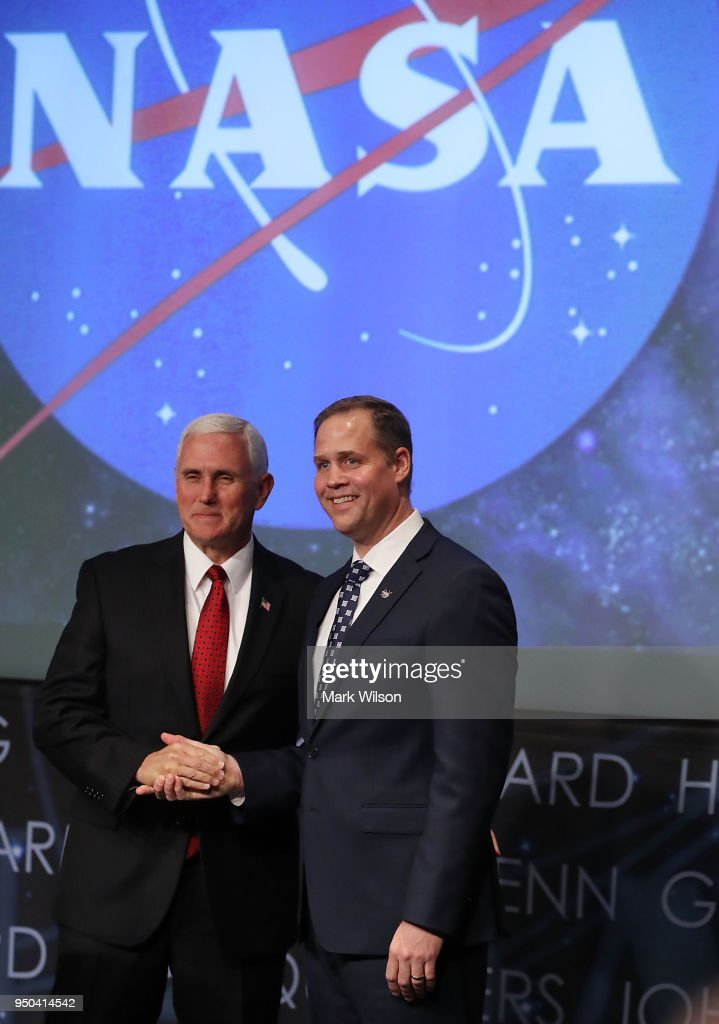 Vice President Pence Swears In New NASA Administrator Jim Bridenstine