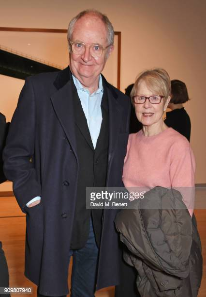 Jim Broadbent and Anastasia Lewis attend the reopening of The Hayward Gallery featuring the first major UK retrospective of the work of German...