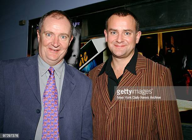 Jim Broadbent and Hugh Bonneville are on hand at the world premiere of the movie 'Iris' at the Paris Theater They're in the film