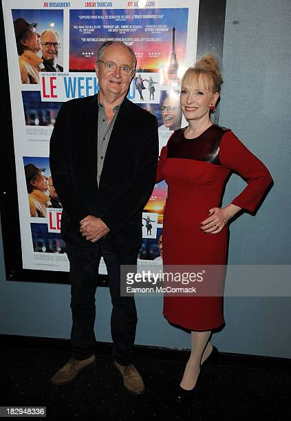 Jim Broadbent and Lindsay Duncan attend the UK Premiere of 'Le Weekend' at Curzon Chelsea on October 2 2013 in London England