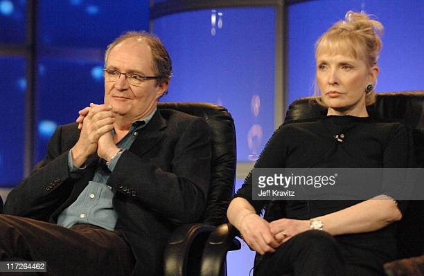 Jim Broadbent and Lindsay Duncan of Longford during HBO Winter 2007 TCA Press Tour in Los Angeles California United States