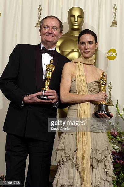 Jim Broadbent Best Supporting Actor for 'Iris' and Jennifer Connelly Best Supporting Actress for 'A Beautiful Mind'