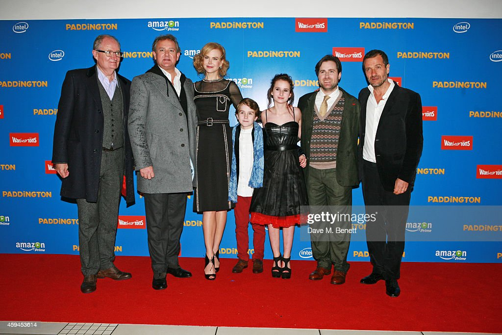 Jim Broadbent, Hugh Bonneville, Nicole Kidman, Samuel Joslin, Madeleine Harris, director Paul King and producer David Heyman attend the World Premiere of 'Paddington' at Odeon Leicester Square on November 23, 2014 in London, England.