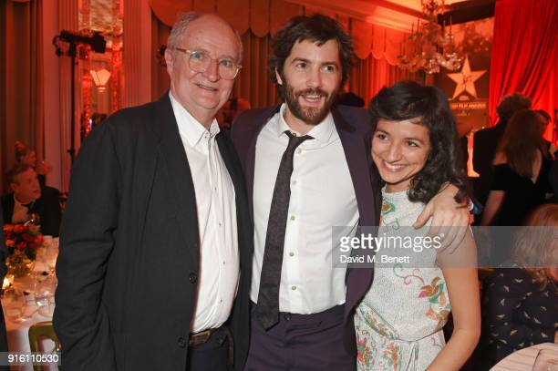Jim Broadbent, Jim Sturgess and Dina Mousawi attend the London Evening Standard British Film Awards 2018 at Claridge's Hotel on February 8, 2018 in...