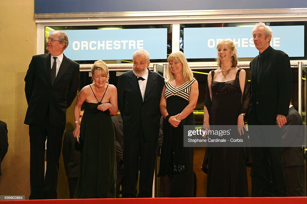 Jim Broadbent, Lesley Manville, Mike Leigh, , Georgina Lowe, Ruth Sheen and Dick Pope at the premiere of 'Another year' during the 63rd Cannes International Film Festival.
