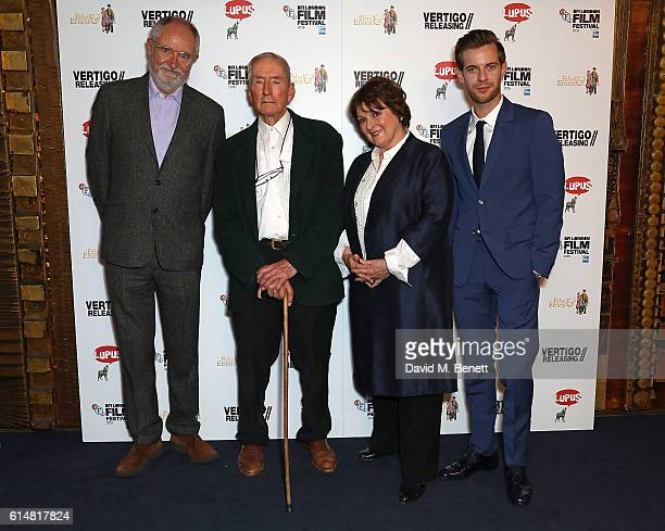Jim Broadbent Raymond Briggs Brenda Blethyn and Luke Treadaway attend the 'Ethel Ernest' screening during the 60th BFI London Film Festival at The...