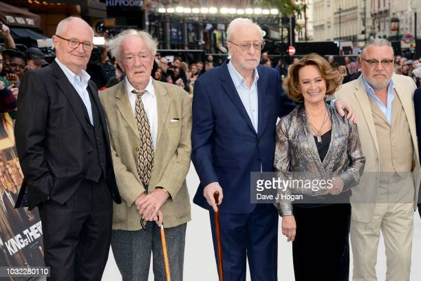 Jim Broadbent Sir Michael Gambon Sir Michael Caine Francesca Annis and Ray Winstone attend the World Premiere of 'King Of Thieves' at Vue West End on...