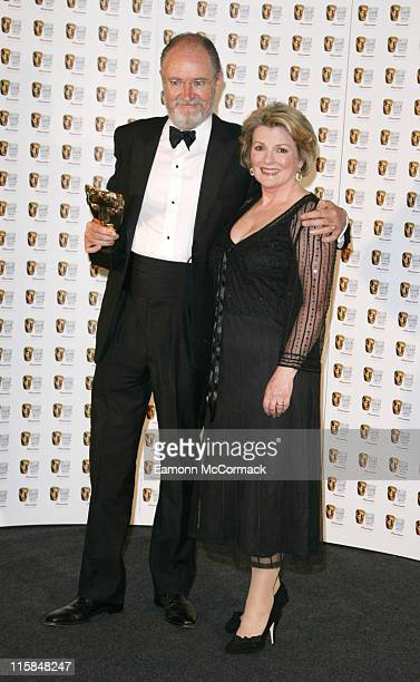 Jim Broadbent wins best actor and Brenda Blethyn during 2007 British Academy Television Awards Press Room at London Palladium in London Great Britain