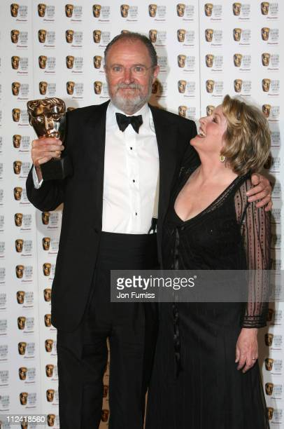 Jim Broadbent wins best actor with Brenda Blethyn during 2007 British Academy Television Awards Press Room at London Palladium in London Great Britain